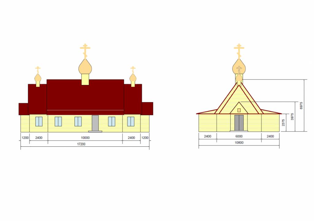 Схема фасадов временного храма