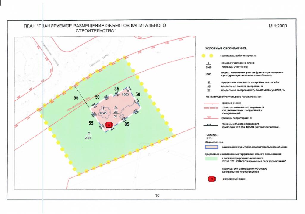 План размещения храмового комплекса (с временным храмом)